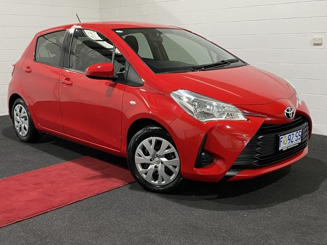 Used Toyota Yaris NCP131R SX Glenorchy, 2017 Toyota Yaris NCP131R SX Red 4 Speed Automatic Hatchback