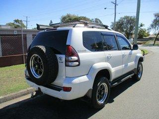 2005 Toyota Landcruiser Prado GRJ120R VX White 5 Speed Automatic Wagon