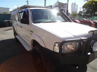 2003 Ford Courier PG GL (4x4) White 5 Speed Manual Crew Cab Pickup.
