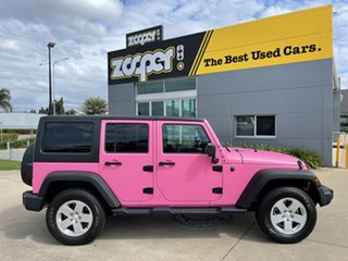 2017 Jeep Wrangler JK MY18 Unlimited Sport Black & Pink 5 Speed Automatic Softtop.