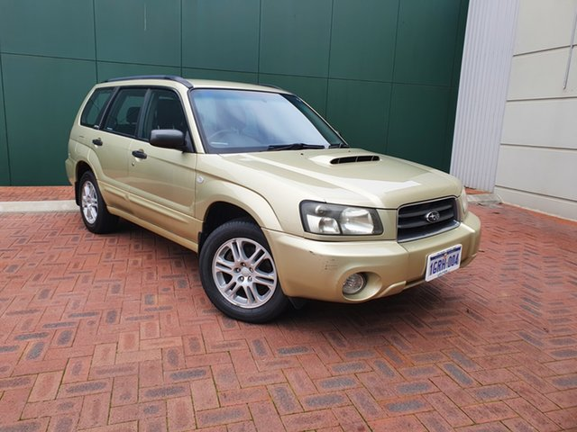 Used Subaru Forester MY04 XT Victoria Park, 2003 Subaru Forester MY04 XT Gold 5 Speed Manual Wagon