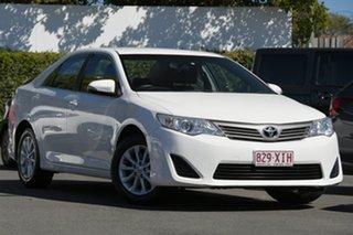 2013 Toyota Camry ASV50R Altise White 6 Speed Sports Automatic Sedan.