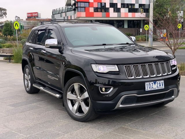 Used Jeep Grand Cherokee WK MY15 Limited South Melbourne, 2015 Jeep Grand Cherokee WK MY15 Limited Black 8 Speed Sports Automatic Wagon