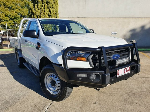 Used Ford Ranger PX MkII 2018.00MY XL Toowoomba, 2018 Ford Ranger PX MkII 2018.00MY XL White 6 Speed Manual Cab Chassis