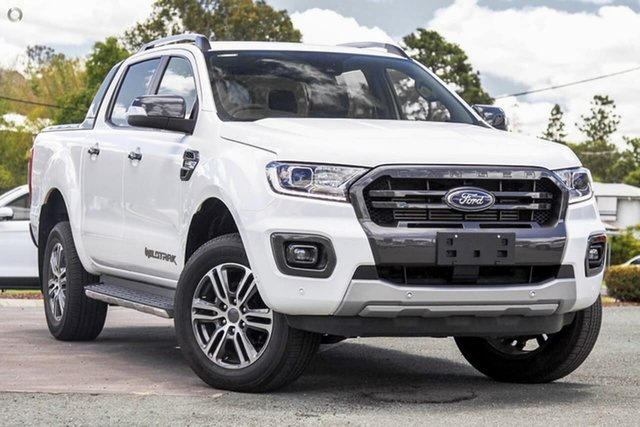 New Ford Ranger PX MkIII 2021.25MY Wildtrak Oakleigh, 2021 Ford Ranger PX MkIII 2021.25MY Wildtrak White 10 Speed Sports Automatic Double Cab Pick Up