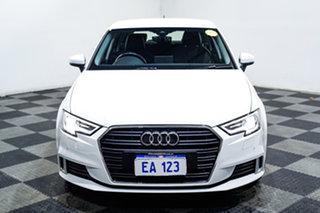 2019 Audi A3 8V MY19 40 TFSI S Tronic White 7 Speed Sports Automatic Dual Clutch Sedan.