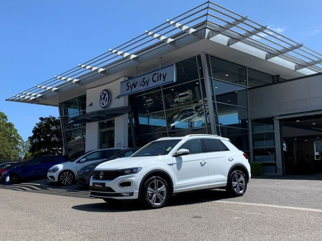 New Volkswagen T-ROC A1 MY21 140TSI DSG 4MOTION Sport Botany, 2021 Volkswagen T-ROC A1 MY21 140TSI DSG 4MOTION Sport White 7 Speed Sports Automatic Dual Clutch