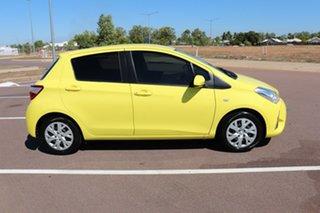 2017 Toyota Yaris NCP131R SX Vivid Yellow 5 Speed Manual Hatchback.