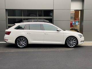 2017 Skoda Superb NP MY18 140TDI DSG White 6 Speed Sports Automatic Dual Clutch Wagon.
