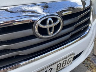 2013 Toyota Hilux KUN26R MY12 SR White 5 Speed Manual Cab Chassis