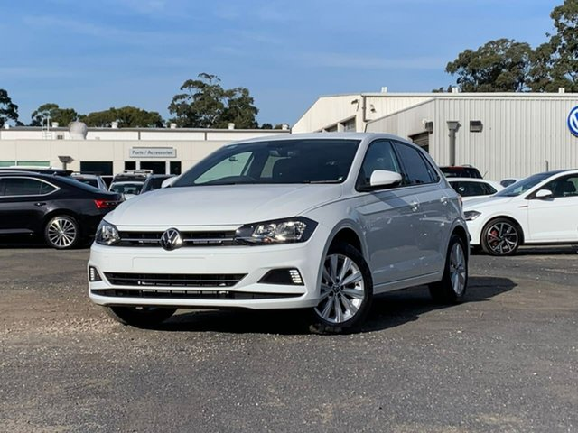 New Volkswagen Polo AW MY21 85TSI DSG Style Botany, 2021 Volkswagen Polo AW MY21 85TSI DSG Style White 7 Speed Sports Automatic Dual Clutch Hatchback