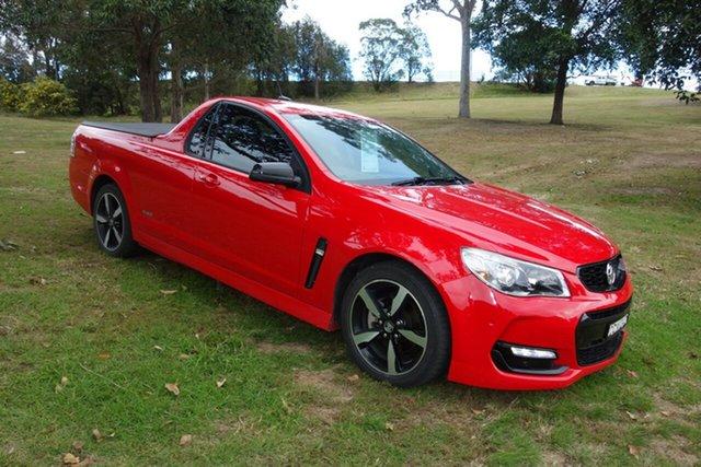 Used Holden Ute VF II MY16 SV6 Ute Black East Maitland, 2016 Holden Ute VF II MY16 SV6 Ute Black Red 6 Speed Sports Automatic Utility