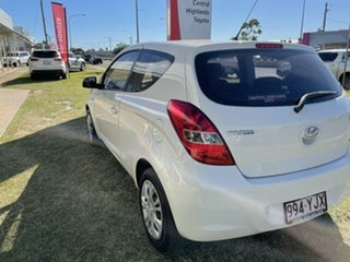 2011 Hyundai i20 PB MY12 Active White 5 Speed Manual Hatchback