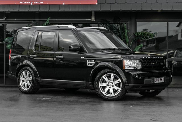 Used Land Rover Discovery 4 Series 4 MY12 TdV6 CommandShift Bowen Hills, 2012 Land Rover Discovery 4 Series 4 MY12 TdV6 CommandShift Black 6 Speed Sports Automatic Wagon