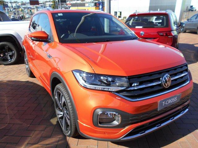 New Volkswagen T-Cross C1 MY21 85TSI DSG FWD Style Toowoomba, 2021 Volkswagen T-Cross C1 MY21 85TSI DSG FWD Style Energetic Orange 7 Speed