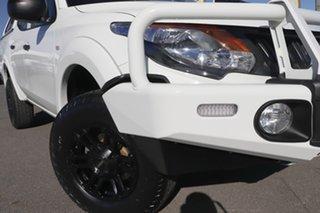 2018 Mitsubishi Triton MQ MY18 GLX Double Cab 4x2 White 5 Speed Sports Automatic Utility.