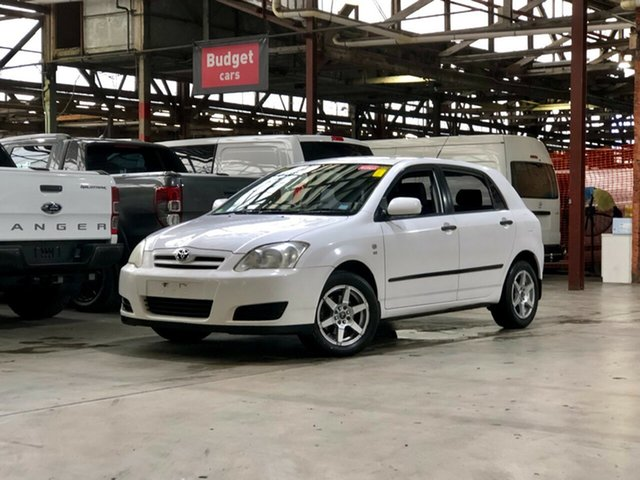 Used Toyota Corolla ZZE122R 5Y Ascent Mile End South, 2006 Toyota Corolla ZZE122R 5Y Ascent White 5 Speed Manual Hatchback