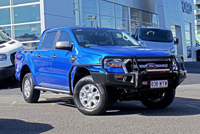 Used Ford Ranger PX MkII XLS Double Cab Springwood, 2016 Ford Ranger PX MkII XLS Double Cab Blue 6 Speed Sports Automatic Utility