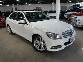2013 Mercedes-Benz C-Class W204 MY13 C200 7G-Tronic + White 7 Speed Sports Automatic Sedan.