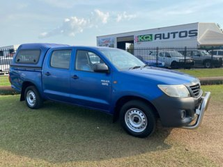 2012 Toyota Hilux TGN16R MY12 Workmate Double Cab 4x2 Blue 5 Speed Manual Utility.