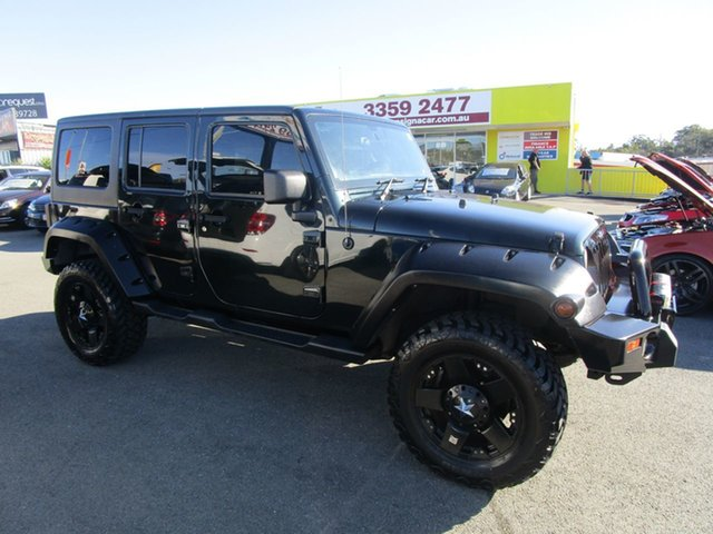 Used Jeep Wrangler JK MY2012 Unlimited Sport Kedron, 2011 Jeep Wrangler JK MY2012 Unlimited Sport Black 6 Speed Manual Softtop