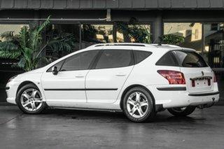 2007 Peugeot 407 ST HDi Touring White 6 Speed Sports Automatic Wagon.