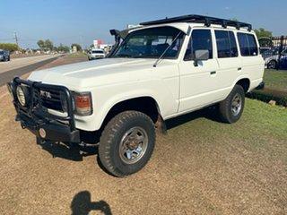 1983 Toyota Landcruiser HJ60 Deluxe White 5 Speed Manual Wagon.