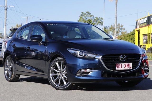 Used Mazda 3 BN5436 SP25 SKYACTIV-MT Astina Rocklea, 2017 Mazda 3 BN5436 SP25 SKYACTIV-MT Astina Deep Crystal Blue 6 Speed Manual Hatchback