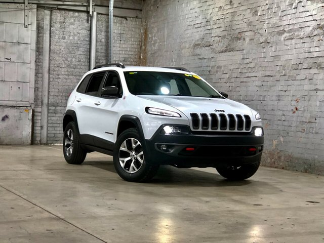 Used Jeep Cherokee KL MY15 Trailhawk Mile End South, 2015 Jeep Cherokee KL MY15 Trailhawk White 9 Speed Sports Automatic Wagon