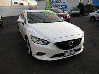 2013 Mazda 6 Touring White 4 Speed Automatic Sedan.