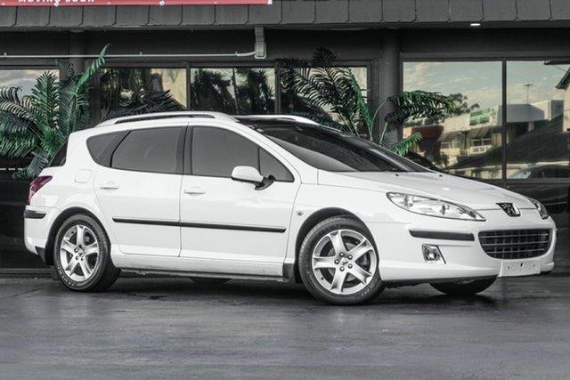 Used Peugeot 407 ST HDi Touring Bowen Hills, 2007 Peugeot 407 ST HDi Touring White 6 Speed Sports Automatic Wagon