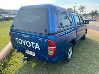 2012 Toyota Hilux TGN16R MY12 Workmate Double Cab 4x2 Blue 5 Speed Manual Utility