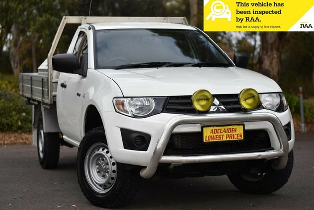Used Mitsubishi Triton MN MY15 GL 4x2 Melrose Park, 2015 Mitsubishi Triton MN MY15 GL 4x2 White 5 Speed Manual Cab Chassis