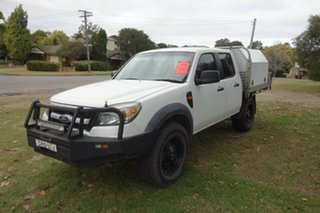 2009 Ford Ranger PK XL Crew Cab White 5 Speed Manual Cab Chassis.