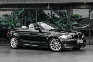 2008 BMW 120i E88 120i Black 6 Speed Automatic Convertible.