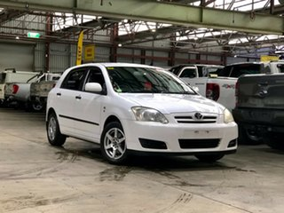 2006 Toyota Corolla ZZE122R 5Y Ascent White 5 Speed Manual Hatchback.