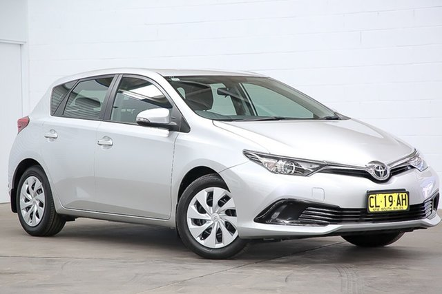 Used Toyota Corolla ZRE182R Ascent S-CVT Erina, 2017 Toyota Corolla ZRE182R Ascent S-CVT Silver 7 Speed Constant Variable Hatchback