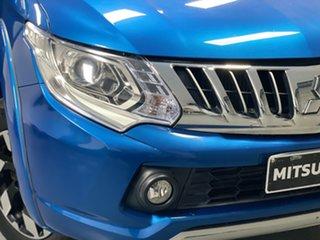 2016 Mitsubishi Triton MQ MY16 Exceed Double Cab Impulse Blue 5 Speed Sports Automatic Utility.