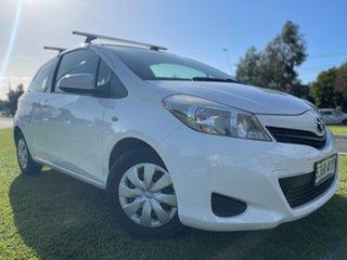 2012 Toyota Yaris NCP130R YR White 5 Speed Manual Hatchback.