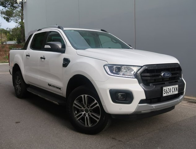 Used Ford Ranger PX MkIII 2021.25MY Wildtrak Reynella, 2021 Ford Ranger PX MkIII 2021.25MY Wildtrak White 10 Speed Sports Automatic Double Cab Pick Up