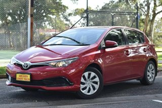 2016 Toyota Corolla ZRE182R Ascent S-CVT Red 7 Speed Constant Variable Hatchback