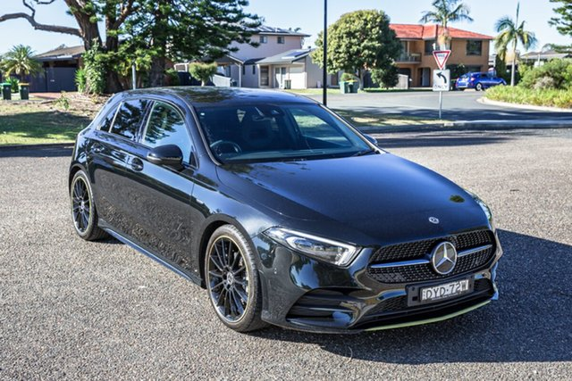 Used Mercedes-Benz A-Class W177 A200 DCT Port Macquarie, 2018 Mercedes-Benz A-Class W177 A200 DCT Black 7 Speed Sports Automatic Dual Clutch Hatchback