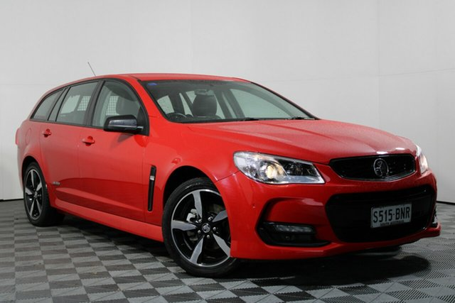 Used Holden Commodore VF II MY16 SV6 Sportwagon Black Wayville, 2016 Holden Commodore VF II MY16 SV6 Sportwagon Black Red 6 Speed Sports Automatic Wagon
