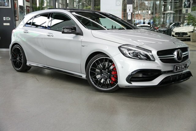 Used Mercedes-Benz A-Class W176 808+058MY A45 AMG SPEEDSHIFT DCT 4MATIC North Melbourne, 2018 Mercedes-Benz A-Class W176 808+058MY A45 AMG SPEEDSHIFT DCT 4MATIC Silver 7 Speed