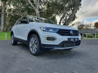 Volkswagen T-ROC A1 MY21 110TSI Style Pure White & Black 8 Speed Sports Automatic Wagon.
