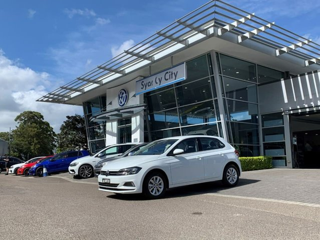 Demo Volkswagen Polo AW MY21 85TSI DSG Comfortline Botany, 2021 Volkswagen Polo AW MY21 85TSI DSG Comfortline White 7 Speed Sports Automatic Dual Clutch