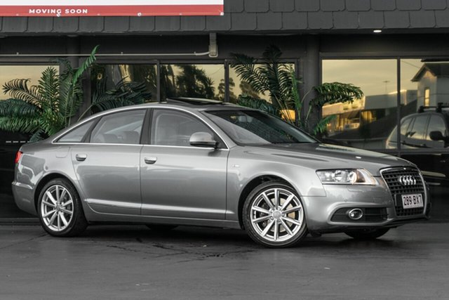Used Audi A6 4F MY10 Multitronic Bowen Hills, 2010 Audi A6 4F MY10 Multitronic Grey 1 Speed Constant Variable Sedan