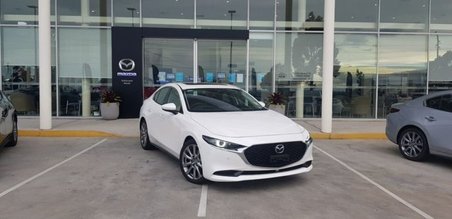 New Mazda 3 BP G25 Astina Kirrawee, 2020 Mazda 3 BP G25 Astina Snowflake White Pearl 6 Speed Automatic Sedan