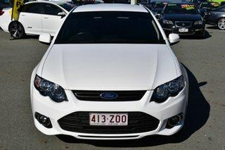 2013 Ford Falcon FG MK2 XR6T White 6 Speed Manual Sedan.