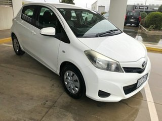 2011 Toyota Yaris NCP130R YR White 4 Speed Automatic Hatchback.